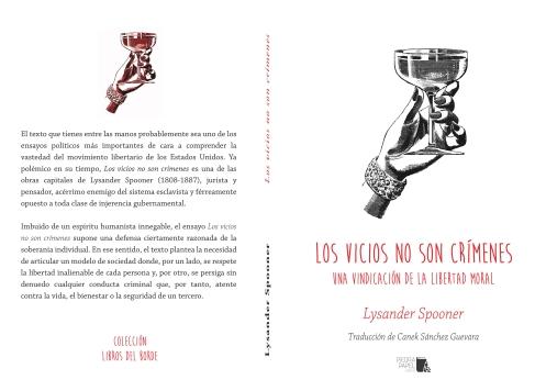 """Portada de """"Los vicios no son crímenes"""", Lysander Spooner."""
