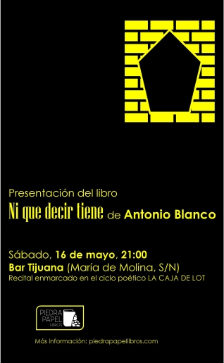 Cartel Antonio Blanco