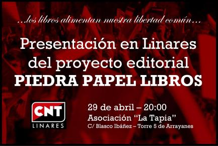 Cartel presentación Linares