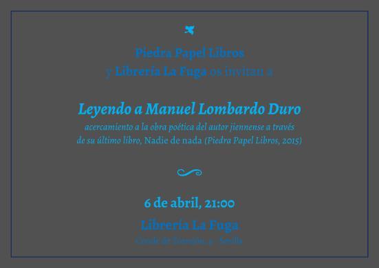 Lectura Manuel Lombardo en Sevilla