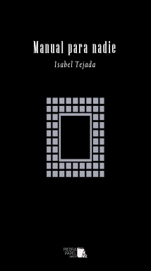 Portada Manual para nadie - Isabel Tejada