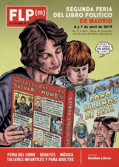 Cartel Feria del Libro político de Madrid